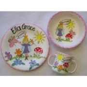 Handpainted Plate Set - Child's Fairy Set